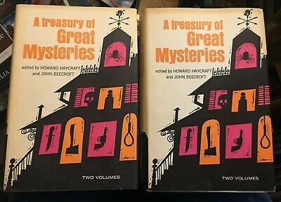 A Treasury Of Great Mysteries 1957 2 Book Lot Volume 1 & 2 Christie/Stanley/Carr