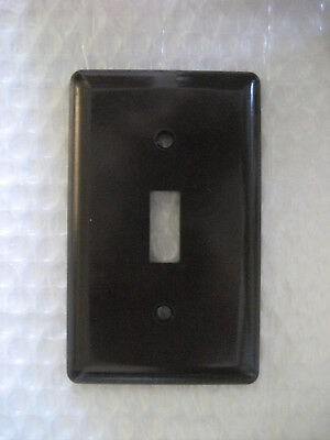 10 x NOS NIB GE Brown Bakelite Light Switch Plate Cover - 1940/50s!