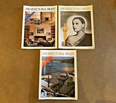 Architectural Digest Special Editions Vintage 1992 Mixed Lot of 3