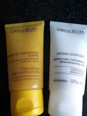 Decleor Gommage 1000 grain body exfoliator 50ml + Aroma Confort body milk 50ml