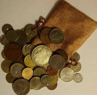COOL 50 Different World Coins  (Morgan Bag)