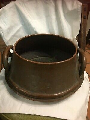 Rare Stickley Bros. #71 Copper Handled Squat Jardiniere  Circa 1910...