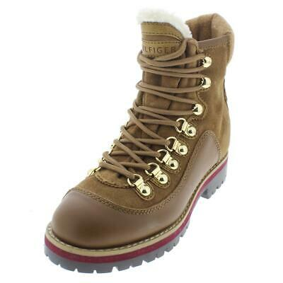 b99e5367f4e1 NIB TOMMY HILFIGER Tonny Medium Brown Suede Snow Boots Winter Shoes ...