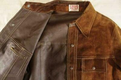 LEVI'S Vintage 60's 70's Reversible Leather Jacket Big E Size 40R Brown Y138