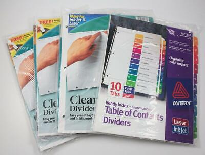 AVERY INDEX MAKER Clear Label Dividers With White Tabs 8