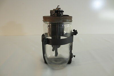 1950's Vintage Windshield Wiper Washer Jar Glass Bottle Fluid Pump Accessory