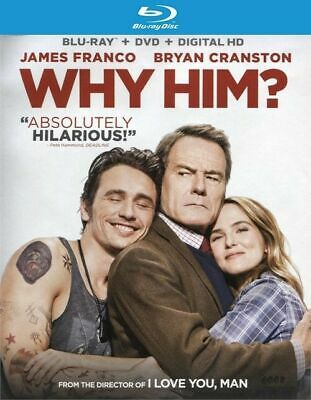 Why Him?  Blu-Ray, Dvd & Digital Hd James Franco & Bryan Cranston...brand New!