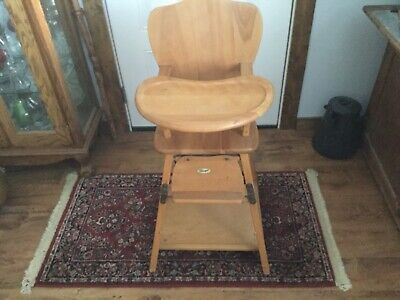 1950's Vintage Thayer Wood Folding High Chair ~ Excellent