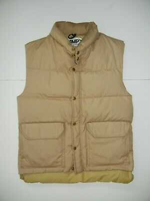 Vtg 80s CAMP7 Boulder Colorado DOWN WINTER VEST Warm Jacket Coat Sz Adult XS