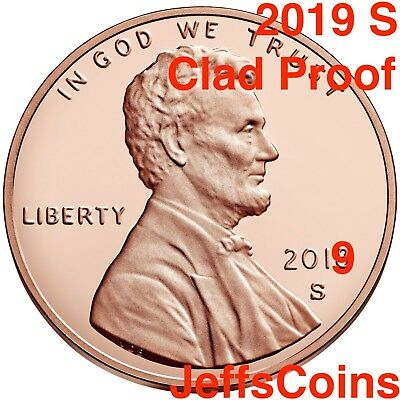 2019 S Lincoln Shield Cent Proof Deep Cameo 1¢ New Penny Union via US Mint Set