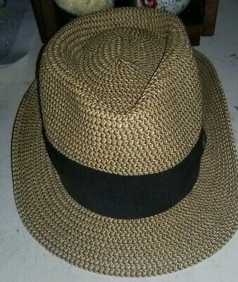 1b30962503228 Mickey Mouse Disney Parks Fedora Straw Hat Adult Brown Disney World Resort  EUC