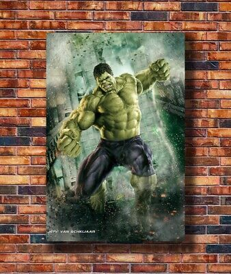 Hulk - The Avengers Marvel Superheroes Movie Silk Art Poster C-1255 36x24 40x27