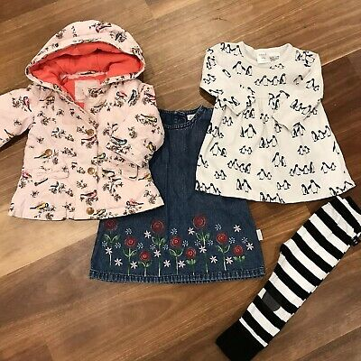 Gorgeous Bundle Baby Girls Clothes 00 & 0 Ted Baker, Seed, Huxbaby, Esprit