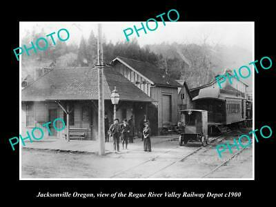 8x6 HISTORIC PHOTO OF JACKSONVILLE OREGON THE ROGUE RIVER VALLEY RAILWAY c1900