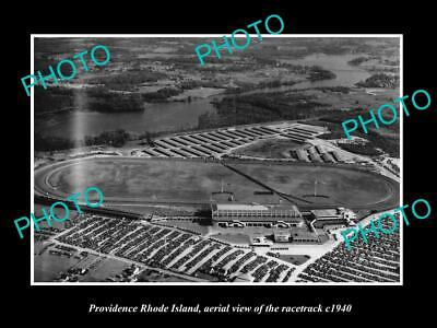 8x6 HISTORIC PHOTO OF PROVIDENCE RHODE ISLAND AERIAL VIEW OF RACETRACK c1940