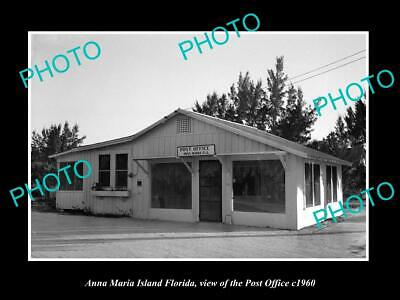 OLD 8x6 HISTORIC PHOTO OF ANNA MARIA FLORIDA VIEW OF THE POST OFFICE c1960