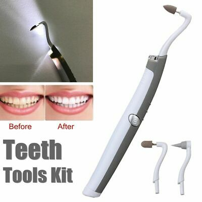 3 In 1 Sonic LED Dental Tooth Stain Eraser Teeth Polisher Whitener Remover Tool