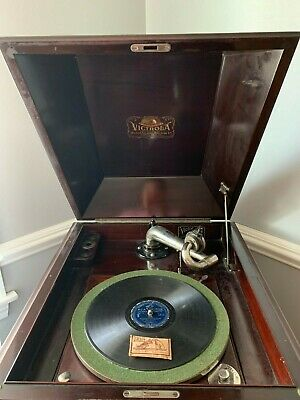 ANTIQUE VICTOR TALKING MACHINE VICTROLA VV XI Wind Up Record Player, Phonograph
