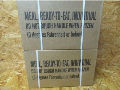 2 Case of Military Mre Meals 1A & 1B 2020 isp Mres Hunting Fishing Camping Prep