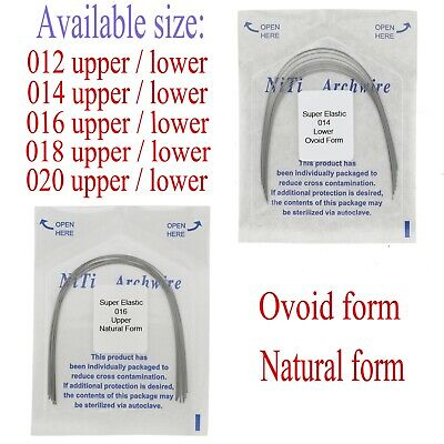10 Pcs Dental Orthodontic Elastic NiTi Arch Wire Natural Ovoid Form Round U/L