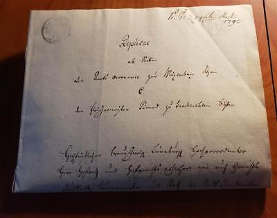 Vintage  Document Dated: March 1793..( With Official Seal) & Watermarks