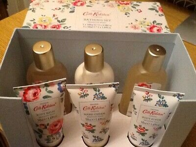 Cath Kidston *meadow Posy* 6 Item Boxed Bathing Set New