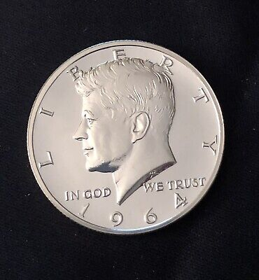 1964 PROOF KENNEDY HALF DOLLAR ACCENTED HAIR **DAMAGED REVERSE, See Photos**