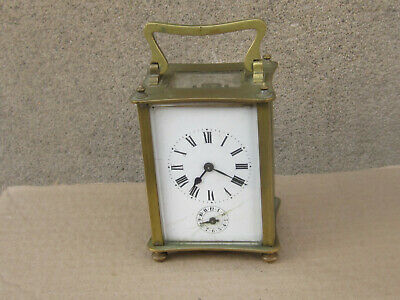 Antique French Bronze Carriage Clock 1900s - working