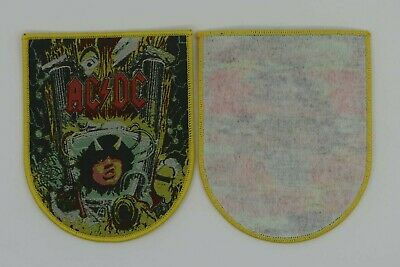 Ac/dc patch yellow border. Woven patch. Limited on 100.pieces.  angus young