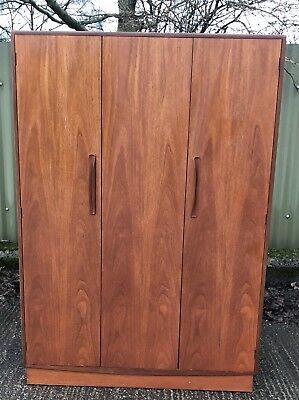 Fine Retro Teak G Plan 3-Door Wardrobe Clean Condition Delivery Available