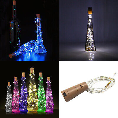 1M 10 LED Cork Shaped Wire String Light 3.28FT Wine Bottle For Party DIY SS494