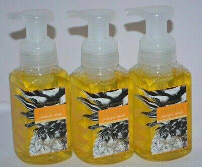 3 Bath & Body Works Jamaica Pineapple Colada W/ Coconut Oil Gentle Foaming Soap