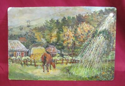 1950s VINTAGE BULGARIAN OIL PAINTING SIGNED