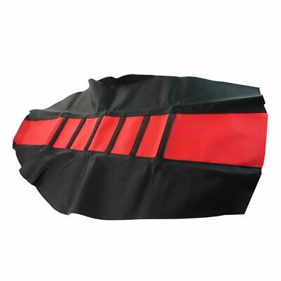 1pc Red Gripper Soft Dirt Bike Motorcycle Universal Seat Cover MX Rubber / Vinyl