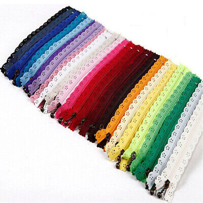 10x Nylon Mixed Color Lace Edge Zipper Puller DIY Craft Zip Tailor-Sewing Tool
