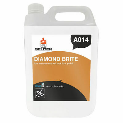 Selden A014 Diamond Brite Wet Look Floor Polish - 5 Litres FREE DELIVERY
