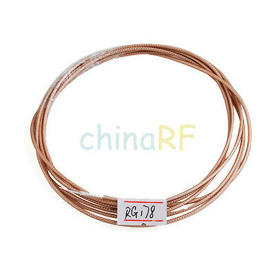 RF Coaxial cable Adapter Connector M17/93-RG178 / 50 feet Coax Cable 50 ohm