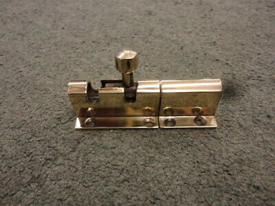 Vintage Brass Draw Bolt & Keep