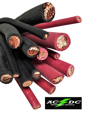 Rubber Jacket Battery & Welding Cable Copper 6, 4, 2 Gauge AWG Size By the Foot
