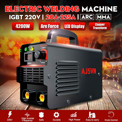 220V 20A-225A LCD Welding Inverter Machine MMA/ARC Stick Welder IGBT Portable