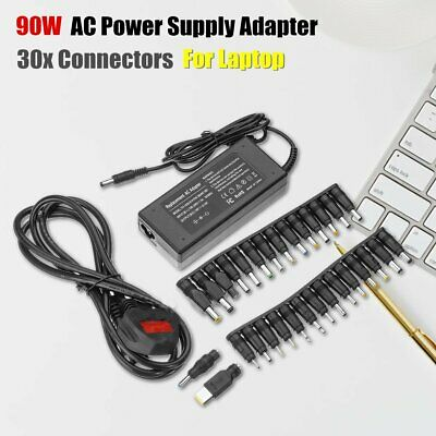 Universal 90W AC Power Supply Adapter Transformer Charger+30 Tip for Laptop