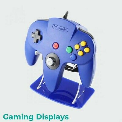 Nintendo 64 Blue Colour Matched Controller Display Stand, Gaming Displays, N64