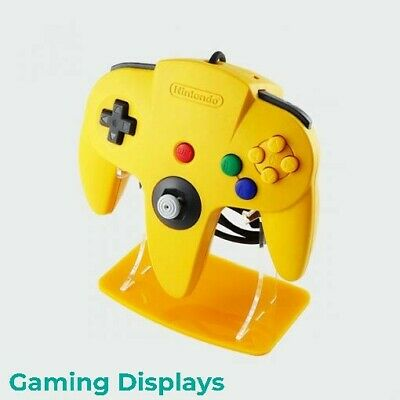 Nintendo 64 Yellow Colour Matched Controller Display Stand, Gaming Displays, N64