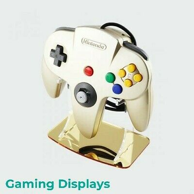 Nintendo 64 Gold Colour Matched Controller Display Stand, Gaming Displays, N64