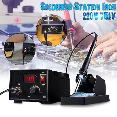 75W Soldering Iron Station Electric Rework Weld Holder 110-220V 967 LCD