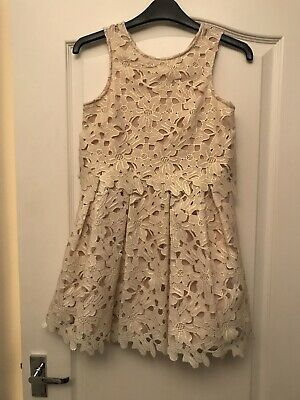 Beautiful Girls Dress With Gold Detailing Age 9 Years Party Wedding Summer