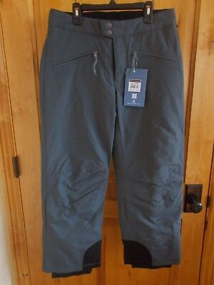 """White Sierra Size S Toboggan Insulated Pant Caviar Color Inseam 29"""" Adjustable"""