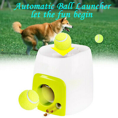Automatic Interactive Throw Ball Dog Pet Training Fetch Tennis Launcher  HOT ACE