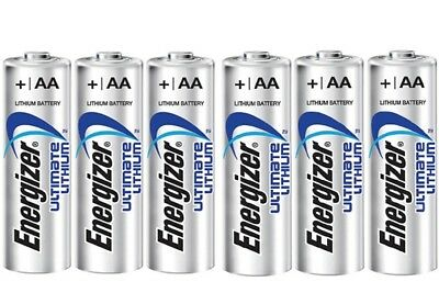X 12 AA Energizer Ultimate Lithium Batteries, Long Expiry Date.