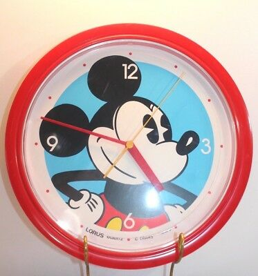 Mickey Mouse Wall Clock Disney Vintage Quartz Clock Lorus Japan Large Face